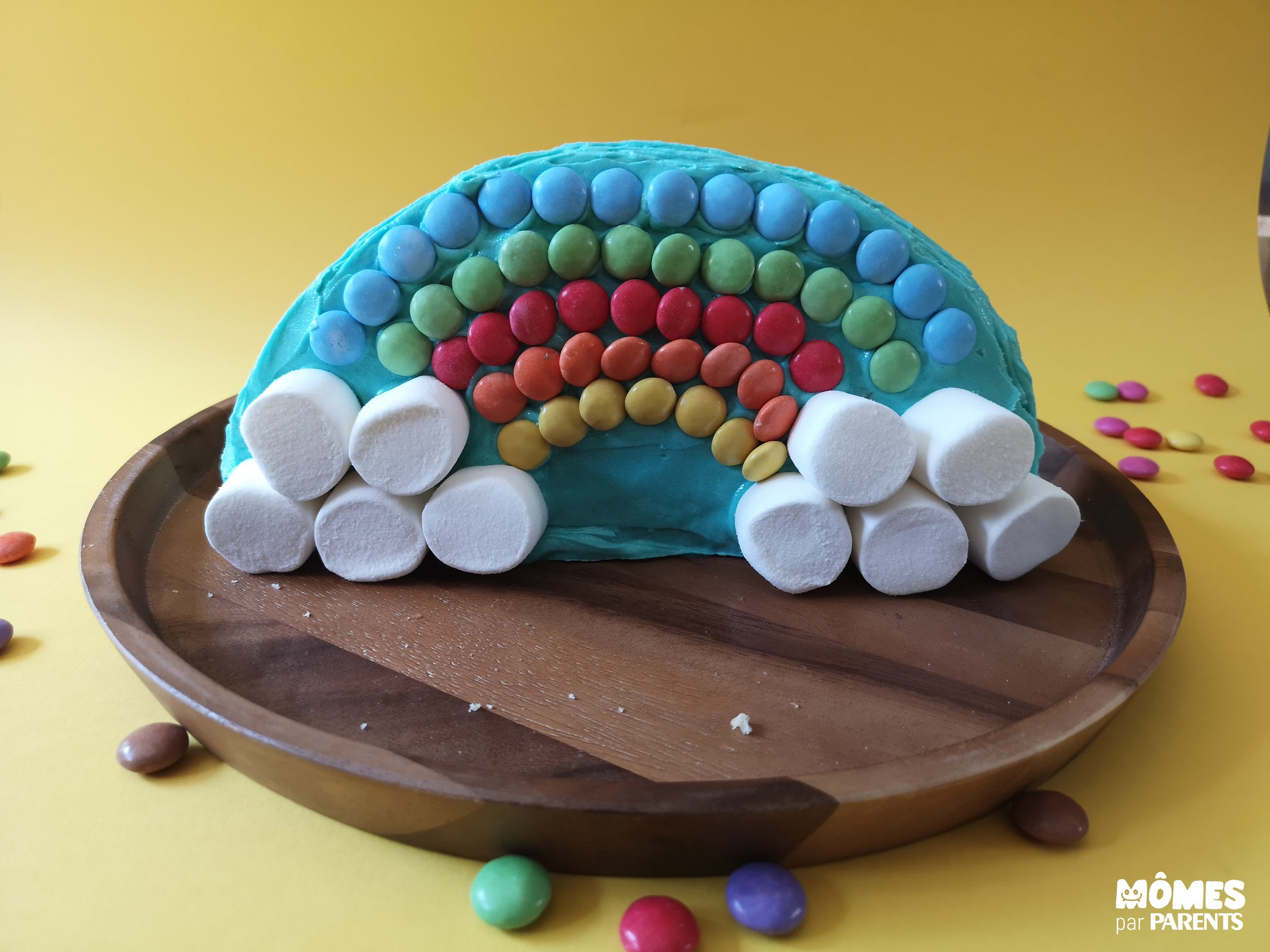 fin gâteau arc en ciel