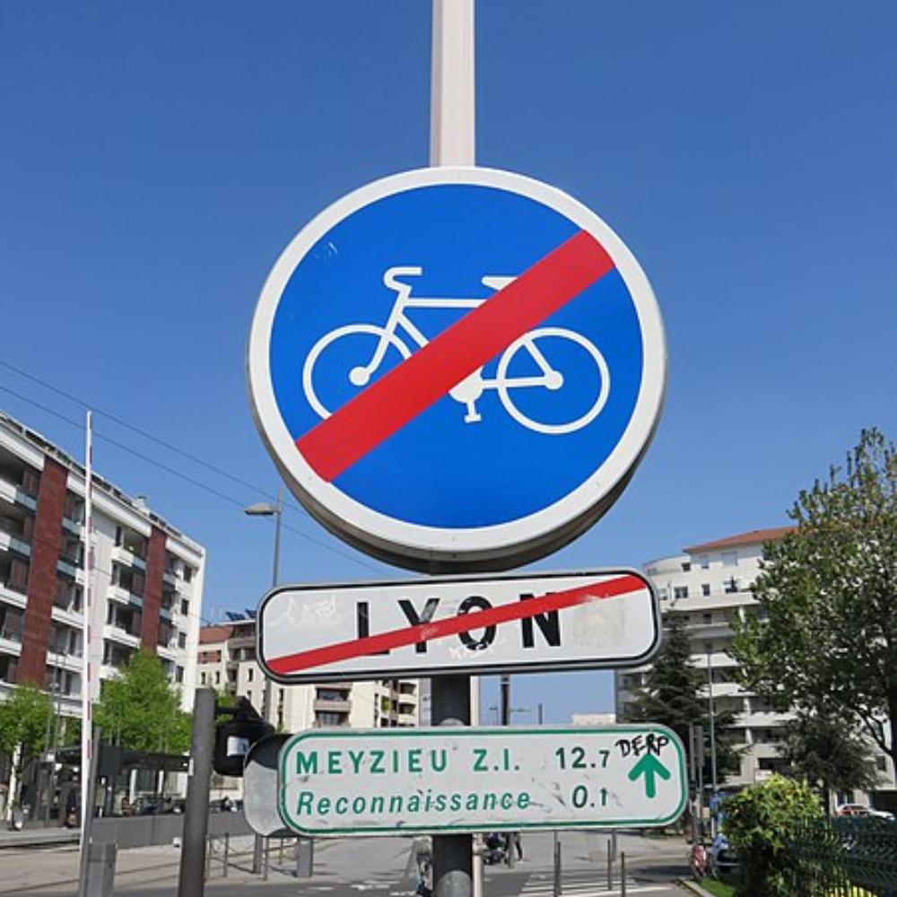 fin piste cyclable