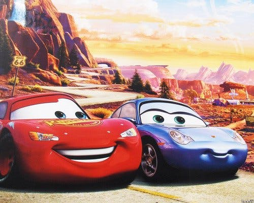 Flash mcqueen et sally cars - Image cars disney ...
