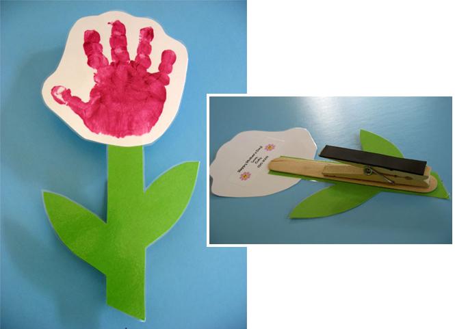 fleur empreinte de main