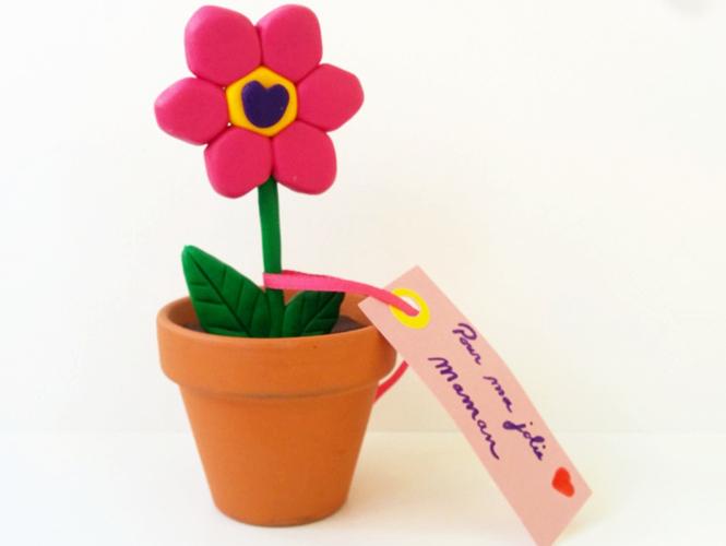 fleur fimo