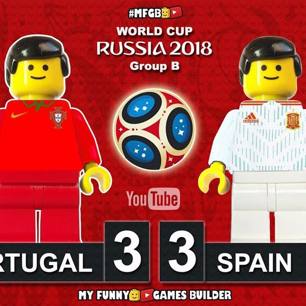 Football Coupe du Monde 2018 : le match Espagne-Portugal recréé en Lego