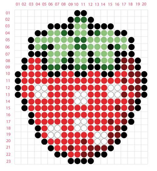 fraise perles chauffantes