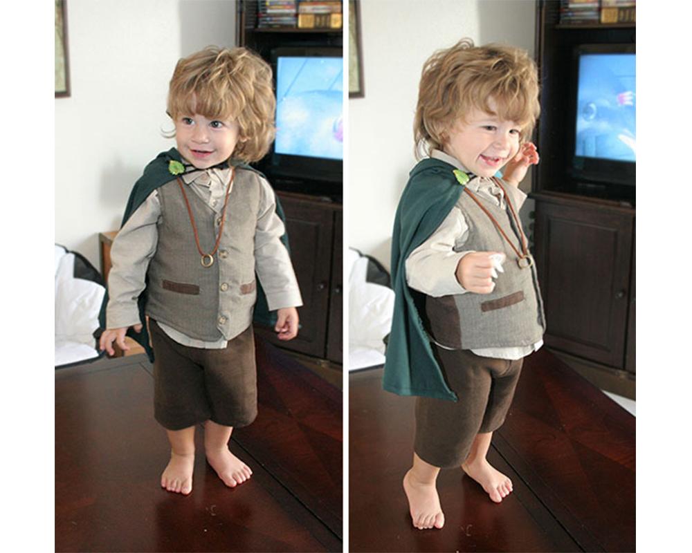 Frodon du Seigneur des Anneaux déguisements costume Halloween enfants