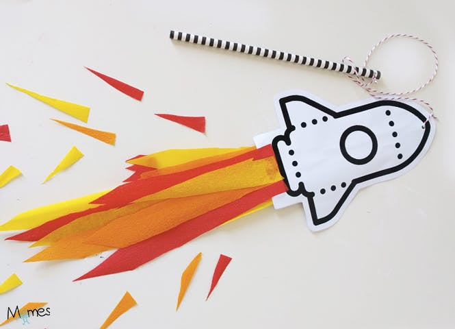 fusée à imprimer