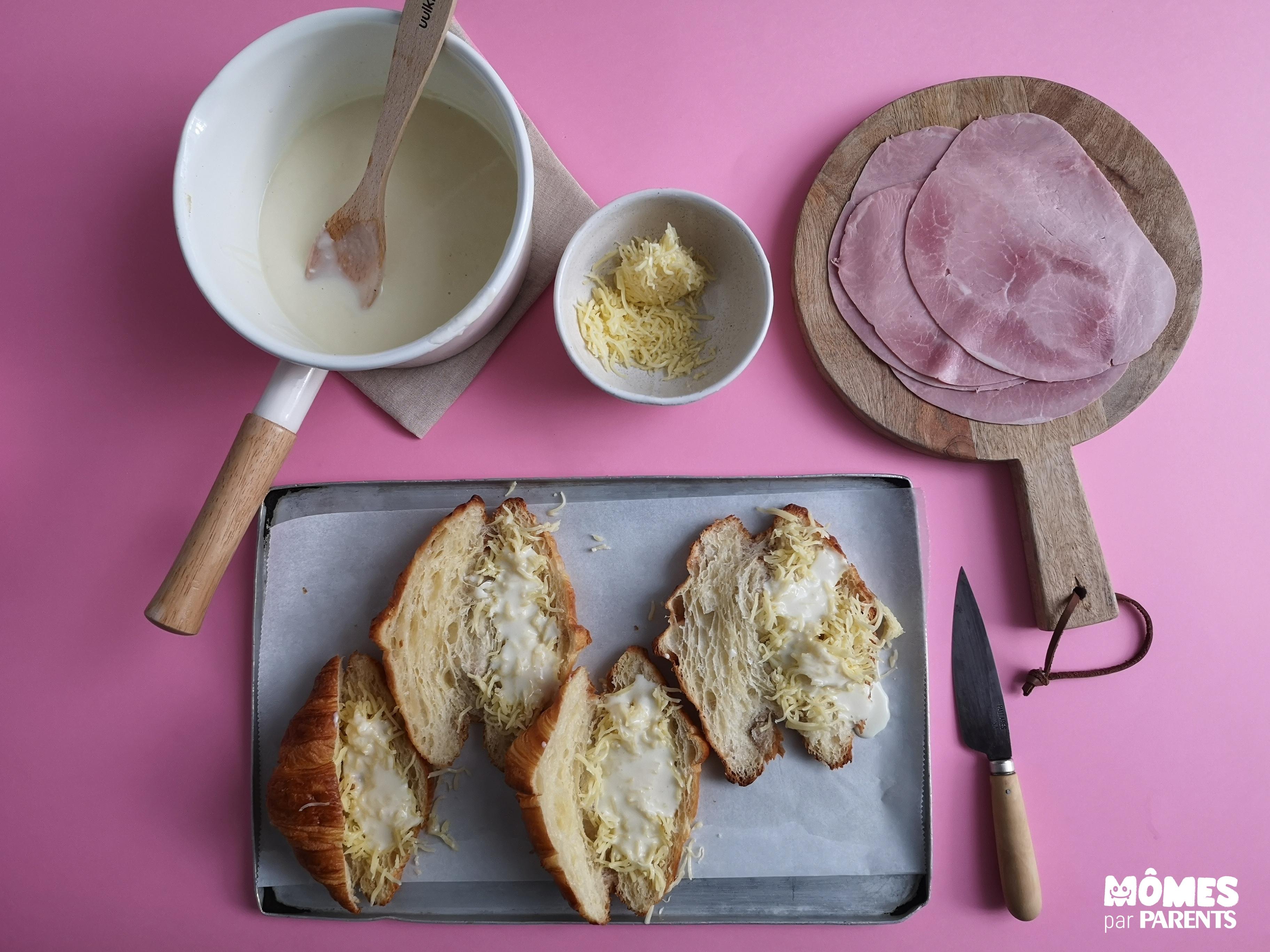 garniture croissant jambon