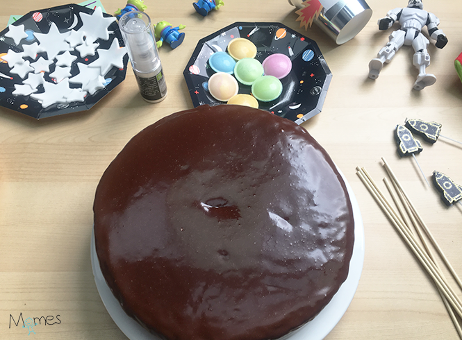 Gâteau astronaute glacé