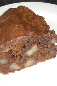 Gâteau choco-poires
