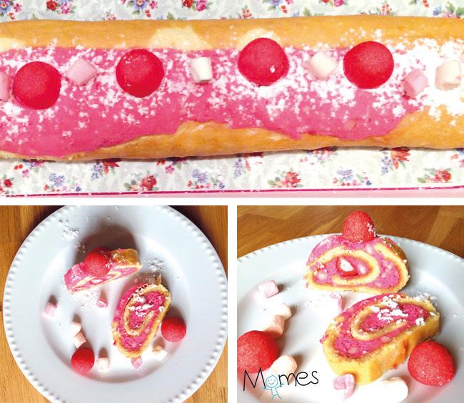 gateau roulé aux fraises tagada