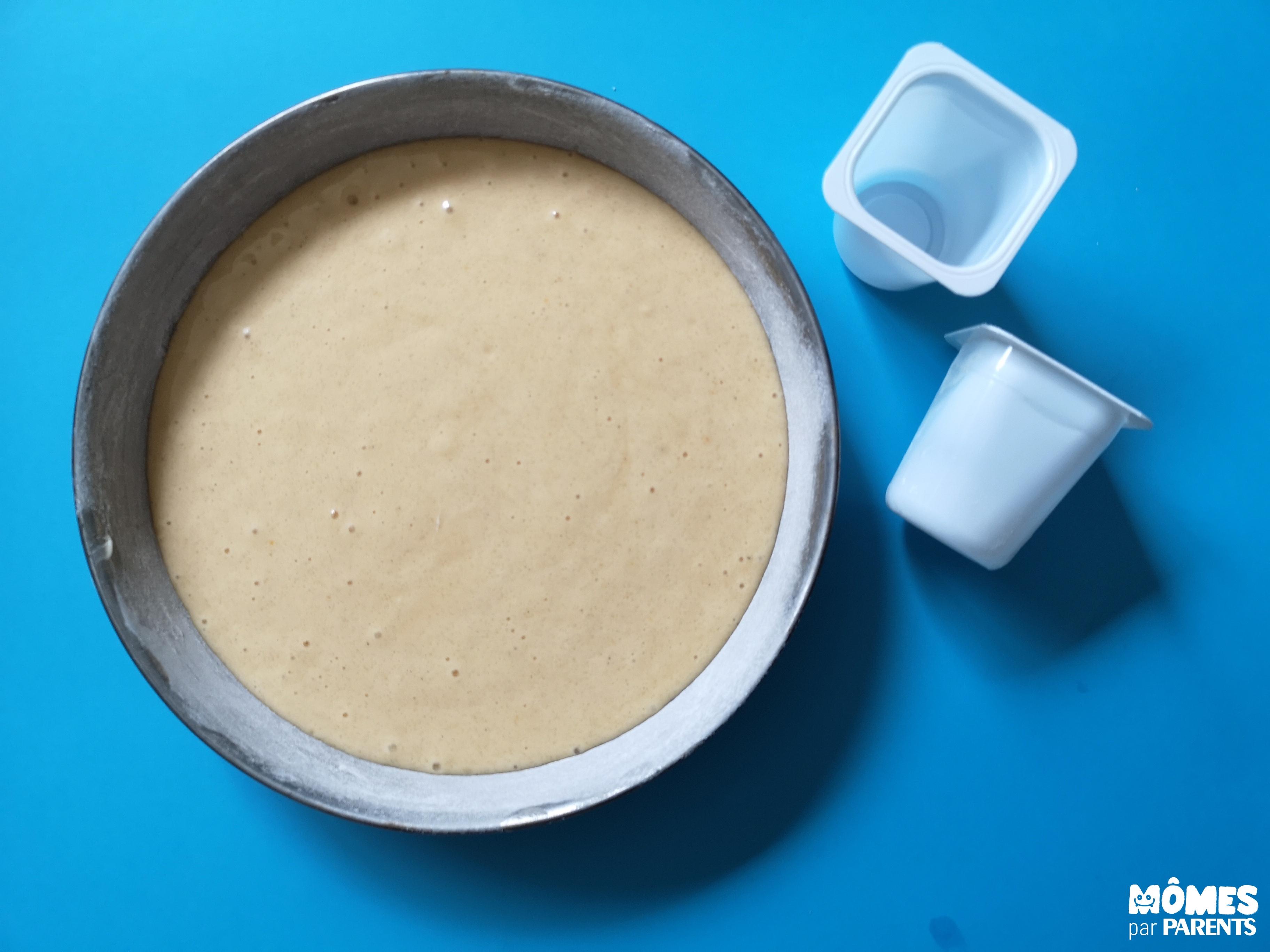 gateau yaourt avant cuisson
