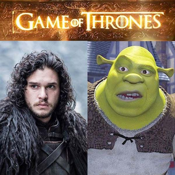 Game of Thrones comparé à Shrek