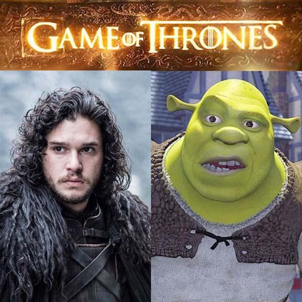 Génial : Game of Thrones comparé à Shrek !