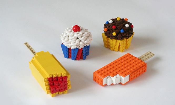 Glaces et cupcakes LEGO