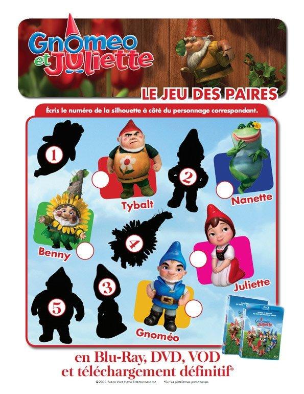 Gnoméo et Juliette : le jeu des paires (2)