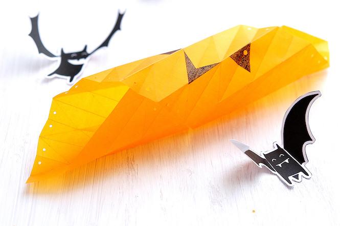 guirlande citrouille origami