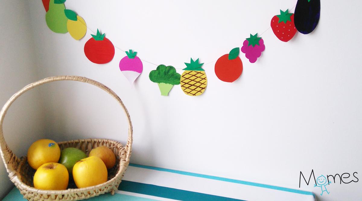 guirlande de fruits et l gumes en papier. Black Bedroom Furniture Sets. Home Design Ideas