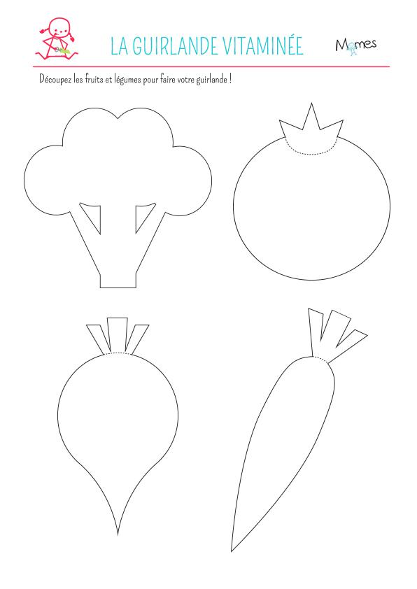 Guirlande de fruits et l gumes en papier - Decoration en papier a faire soi meme ...
