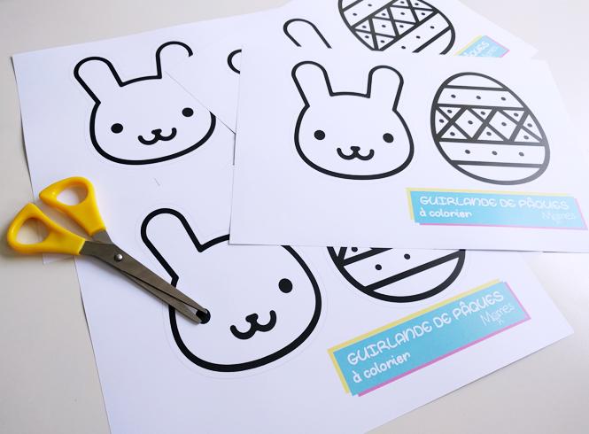 decoration paques à imprimer