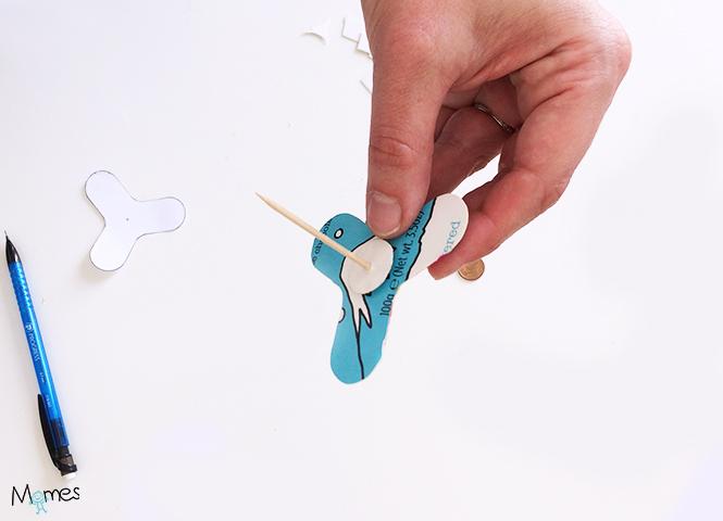 fabriquer un hand spinner en carton