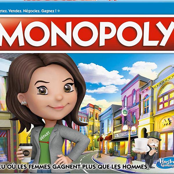 Mme Monopoly Ms Monopoly jeu société féministe les femmes gagnent plus que les hommes
