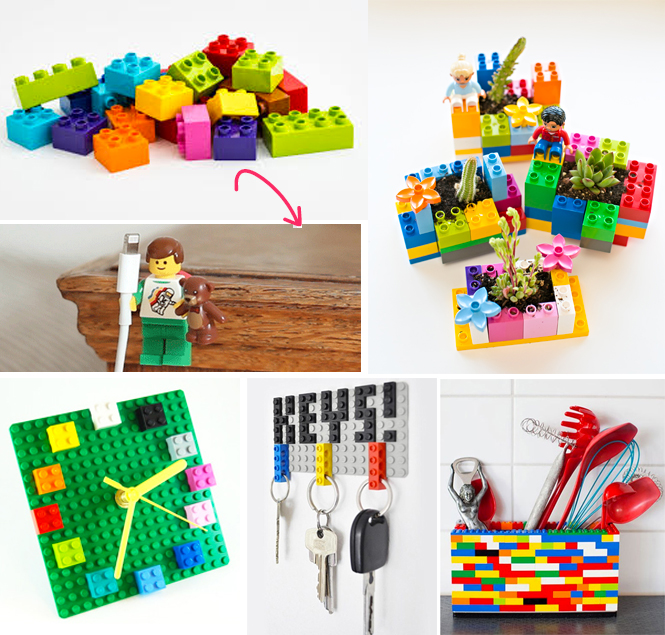 id es amusantes pour r utiliser les lego. Black Bedroom Furniture Sets. Home Design Ideas