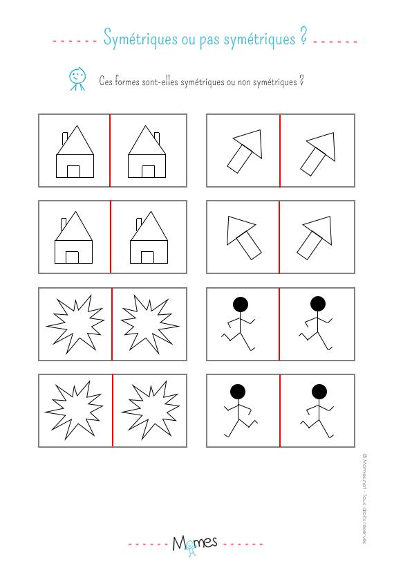 Identifier la symétrie: exercice