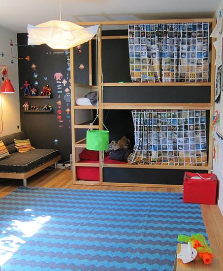 Les super transformations de lit pour enfant kura d 39 ikea for Ikea chambre hacks