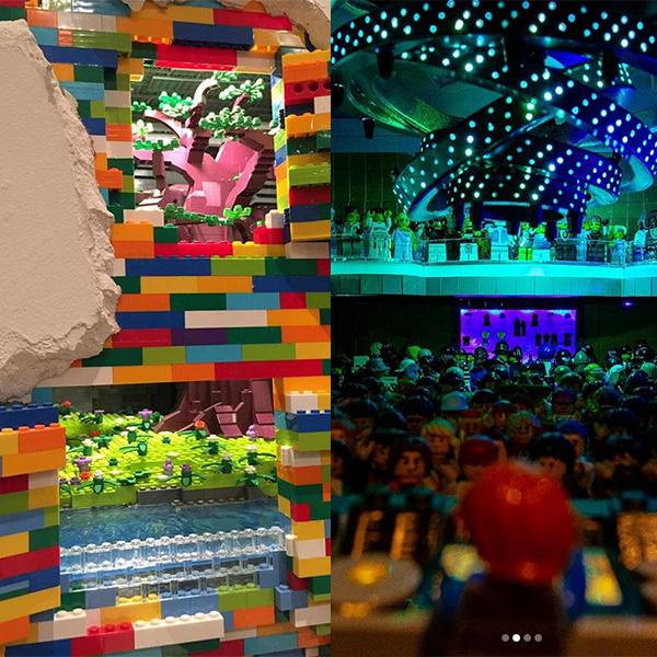 Dante Dentoni Lego briques salles secrètes dans mur Zedd