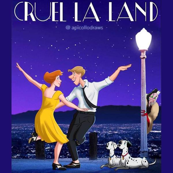 Il détourne des affiches de films avec des personnages Disney