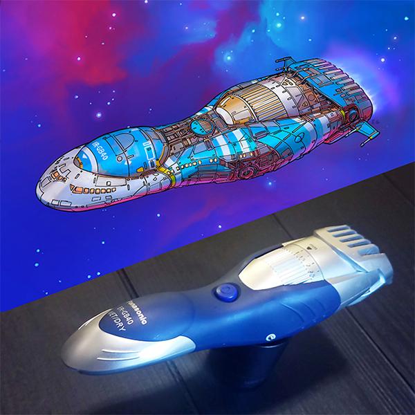 Il imagine des vaisseaux à partir d'objets du quotidien