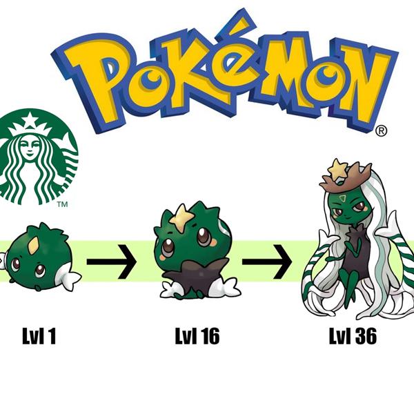 Il transforme les marques en Pokémon et leurs évolutions !