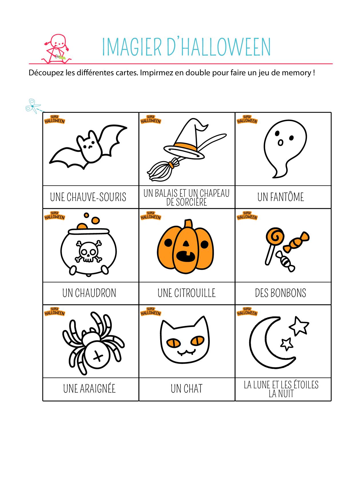 imagier halloween à imprimer