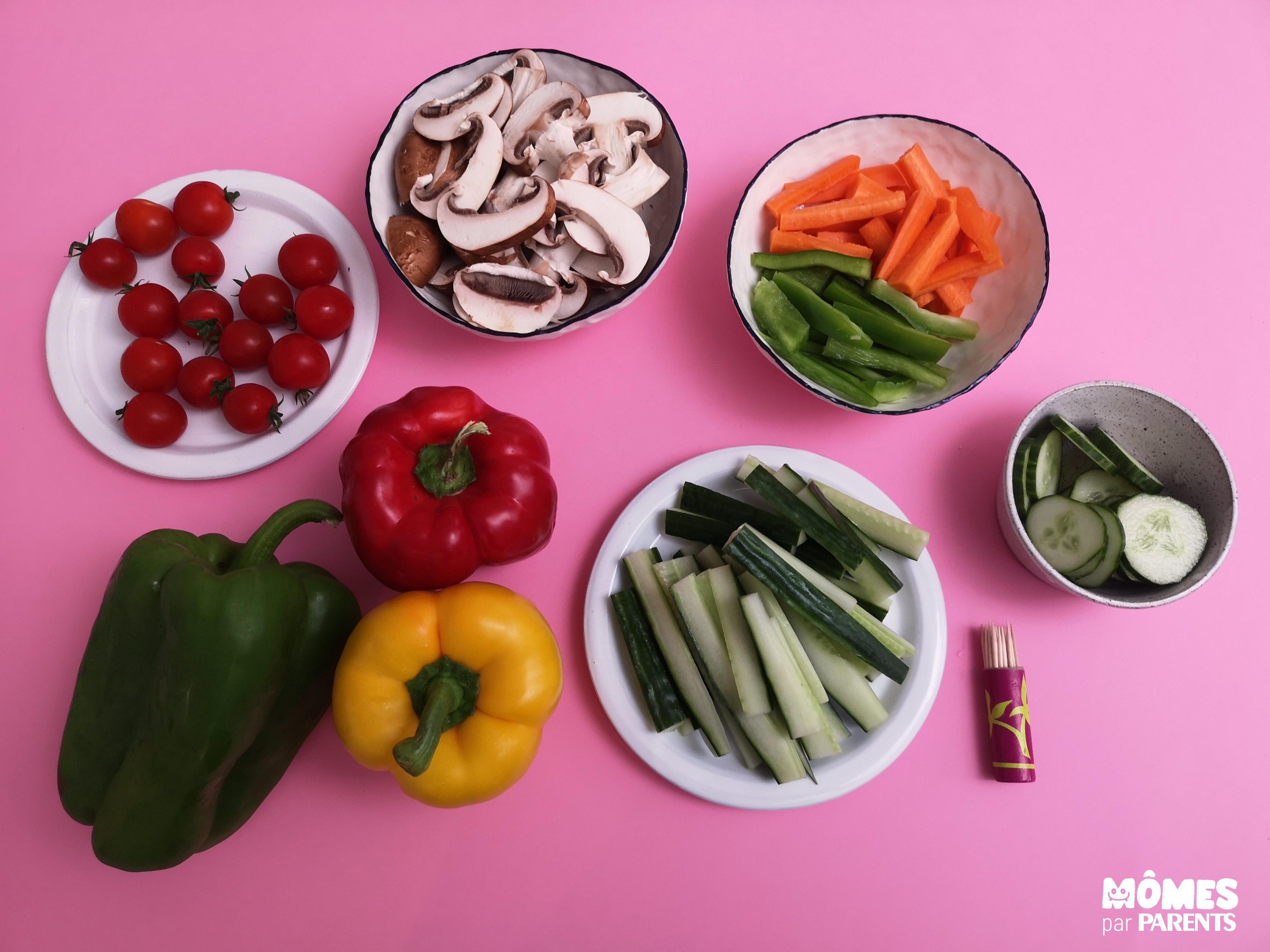 ingré train légumes