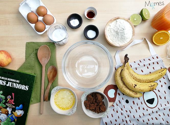 ingrédients Banana bread