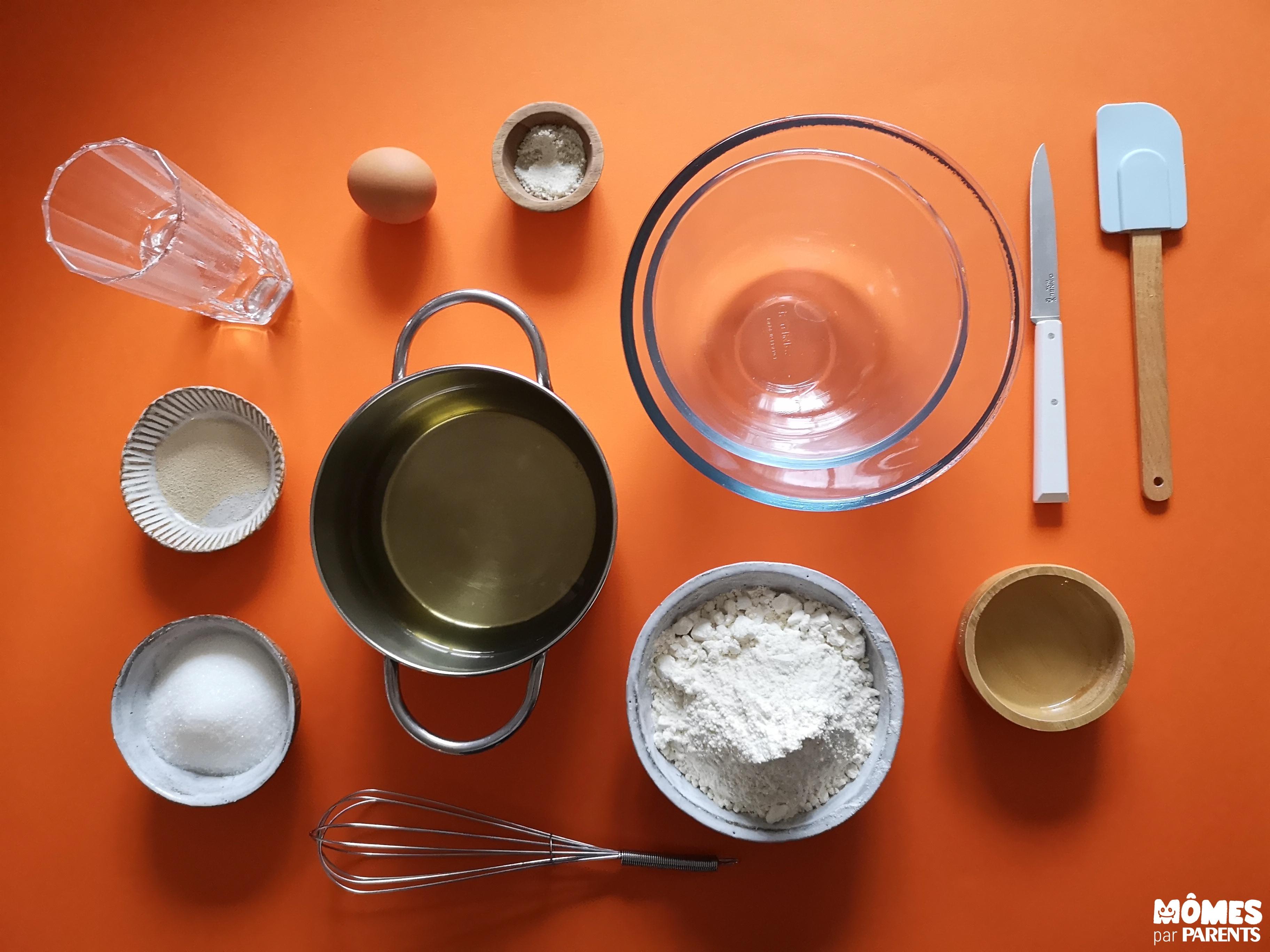 ingrédients beignets