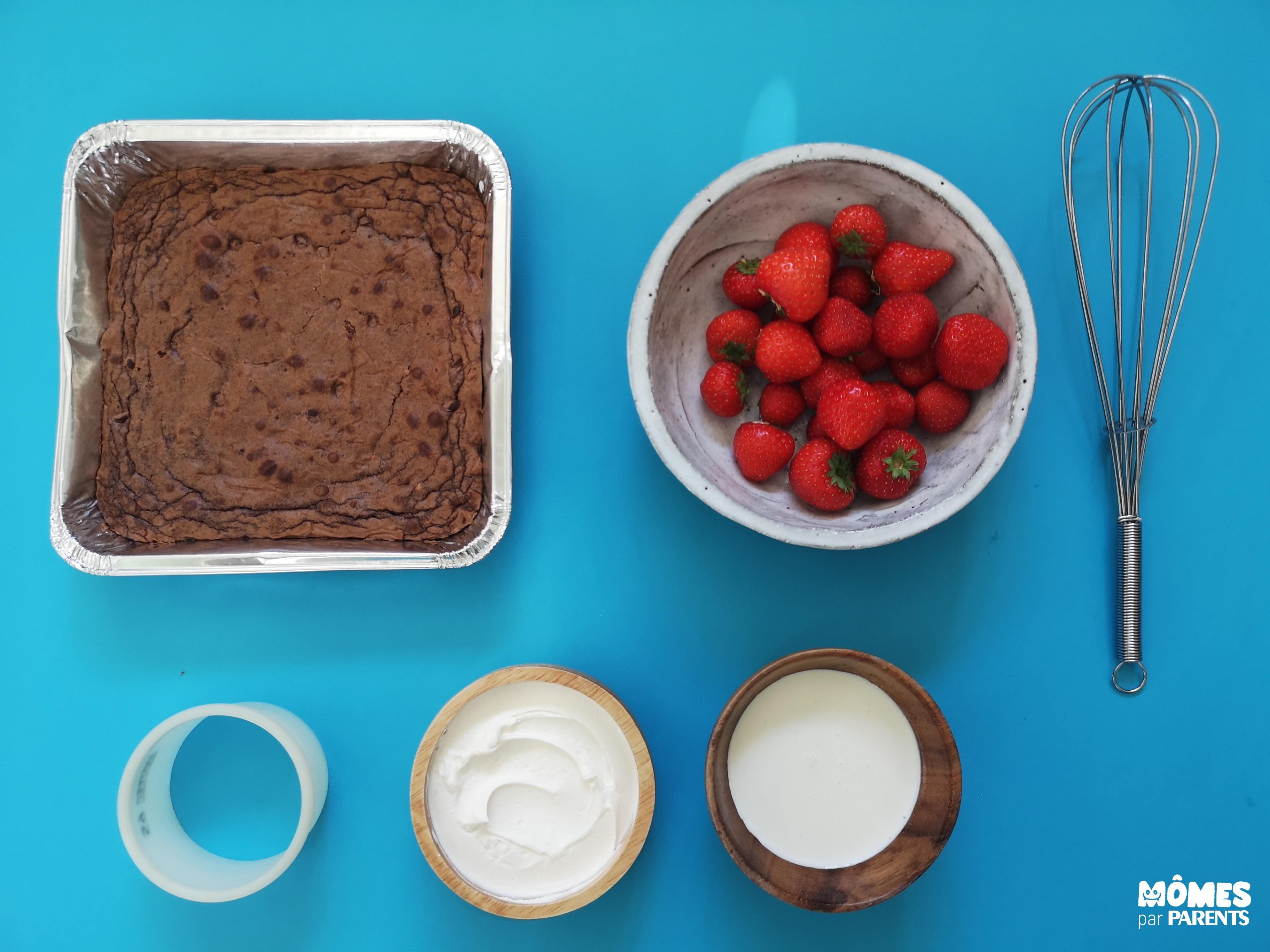 ingrédients brownie noel