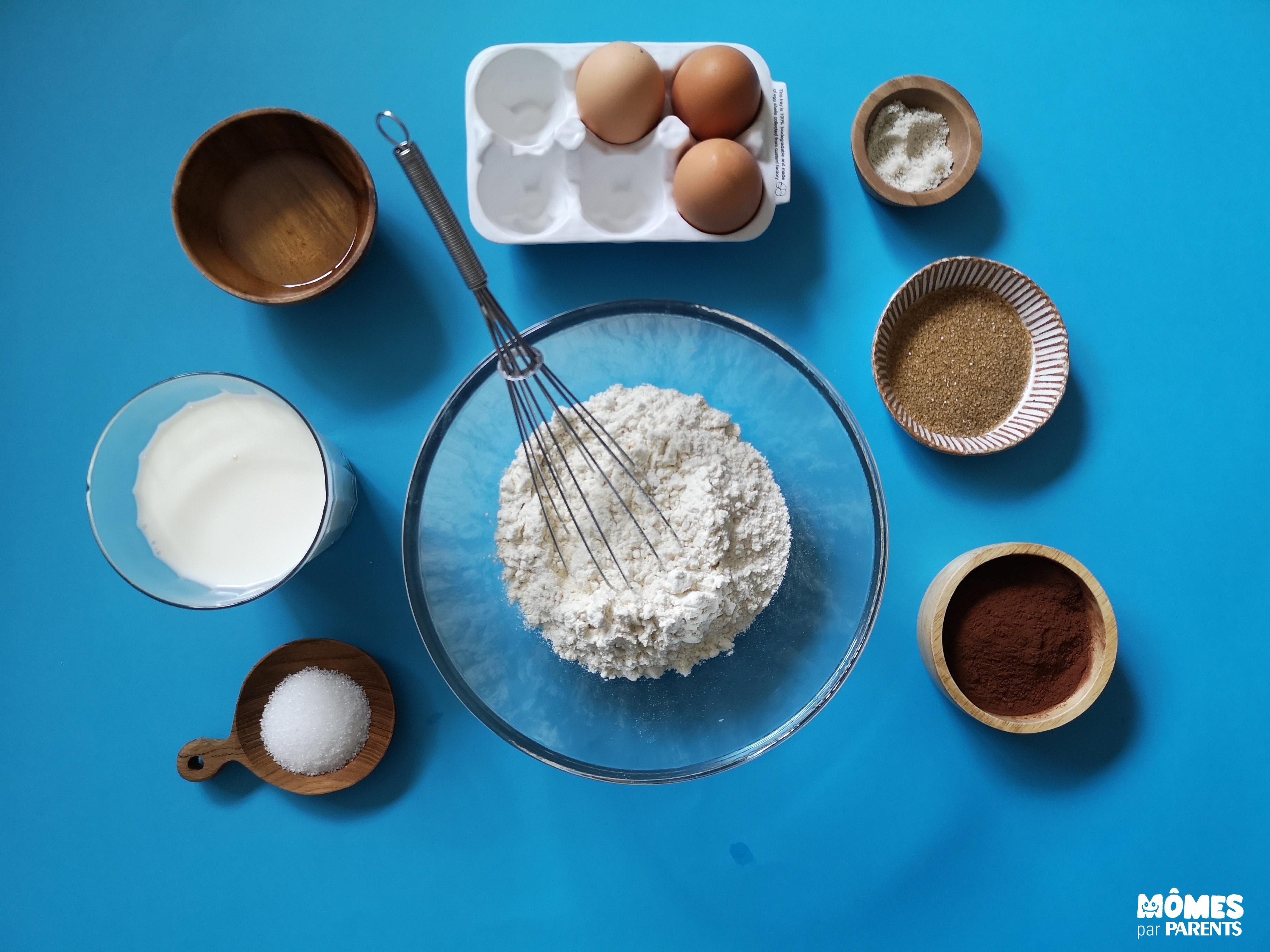 ingrédients crêpes chocolat