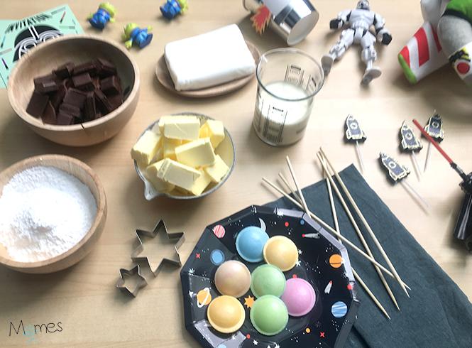 ingrédients gâteau Astronaute