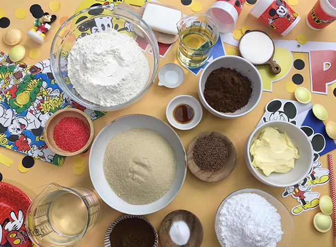 ingrédients gâteau mickey