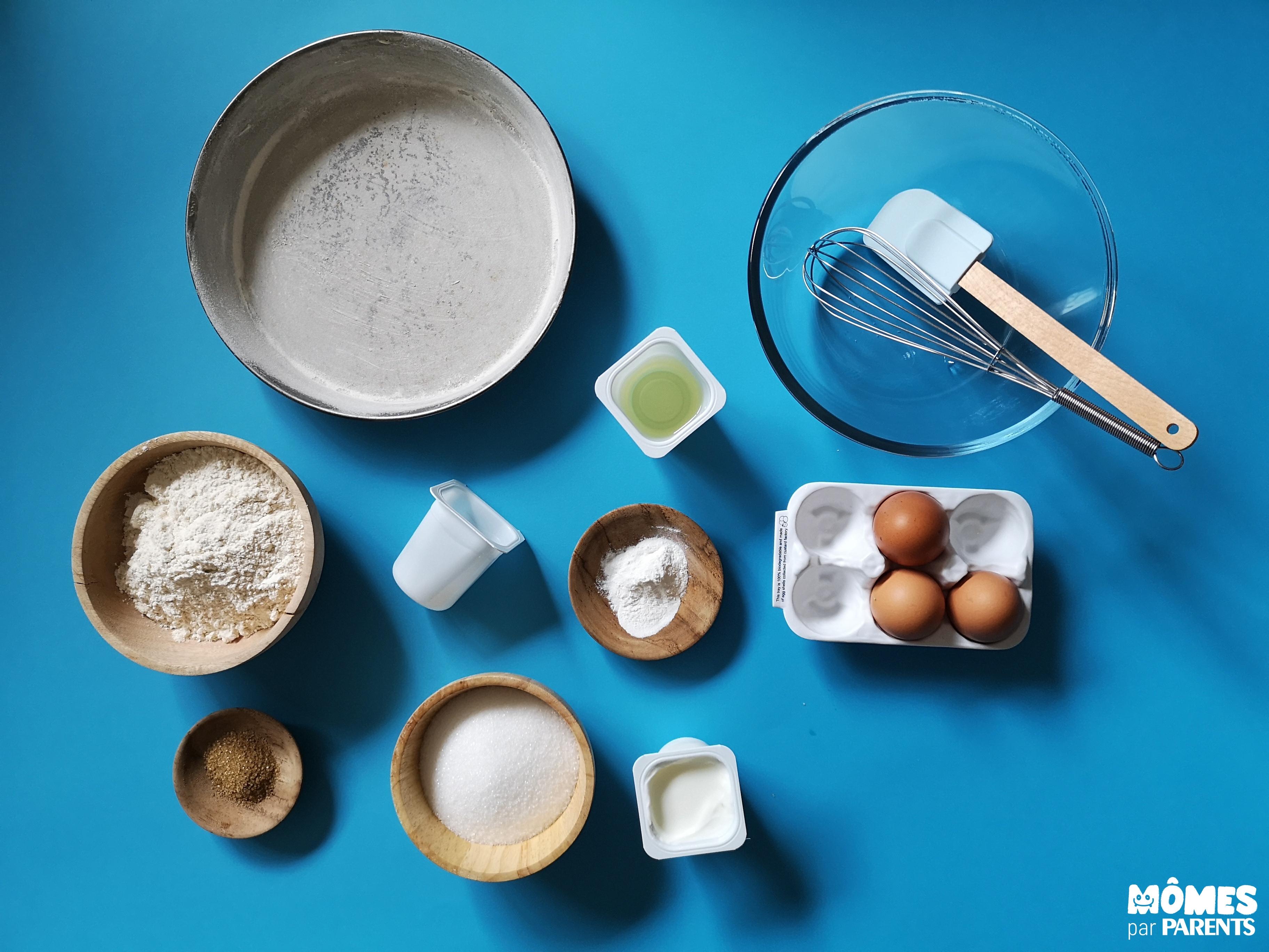 ingrédients gâteau yaourt