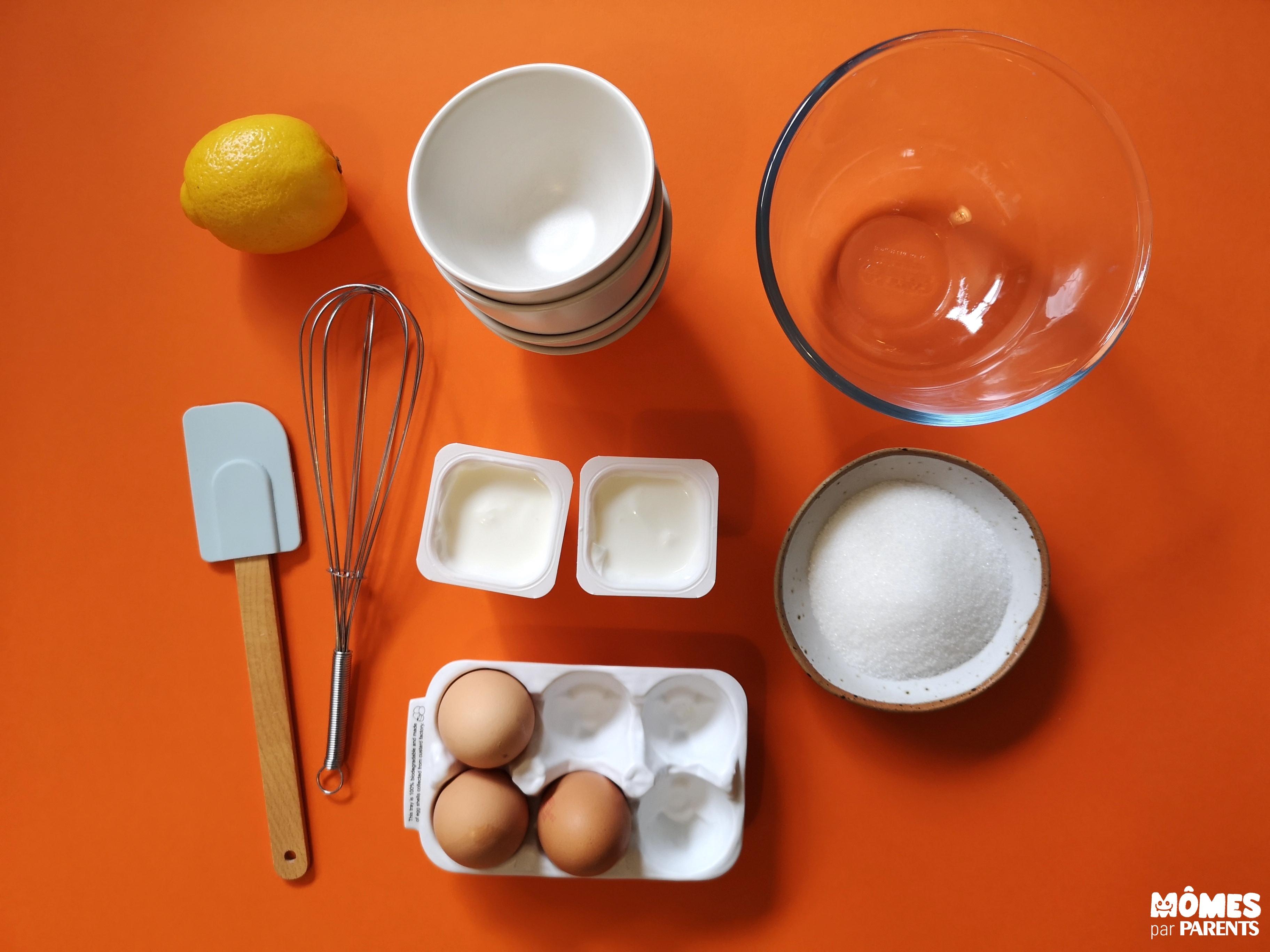 ingrédients mousse citron