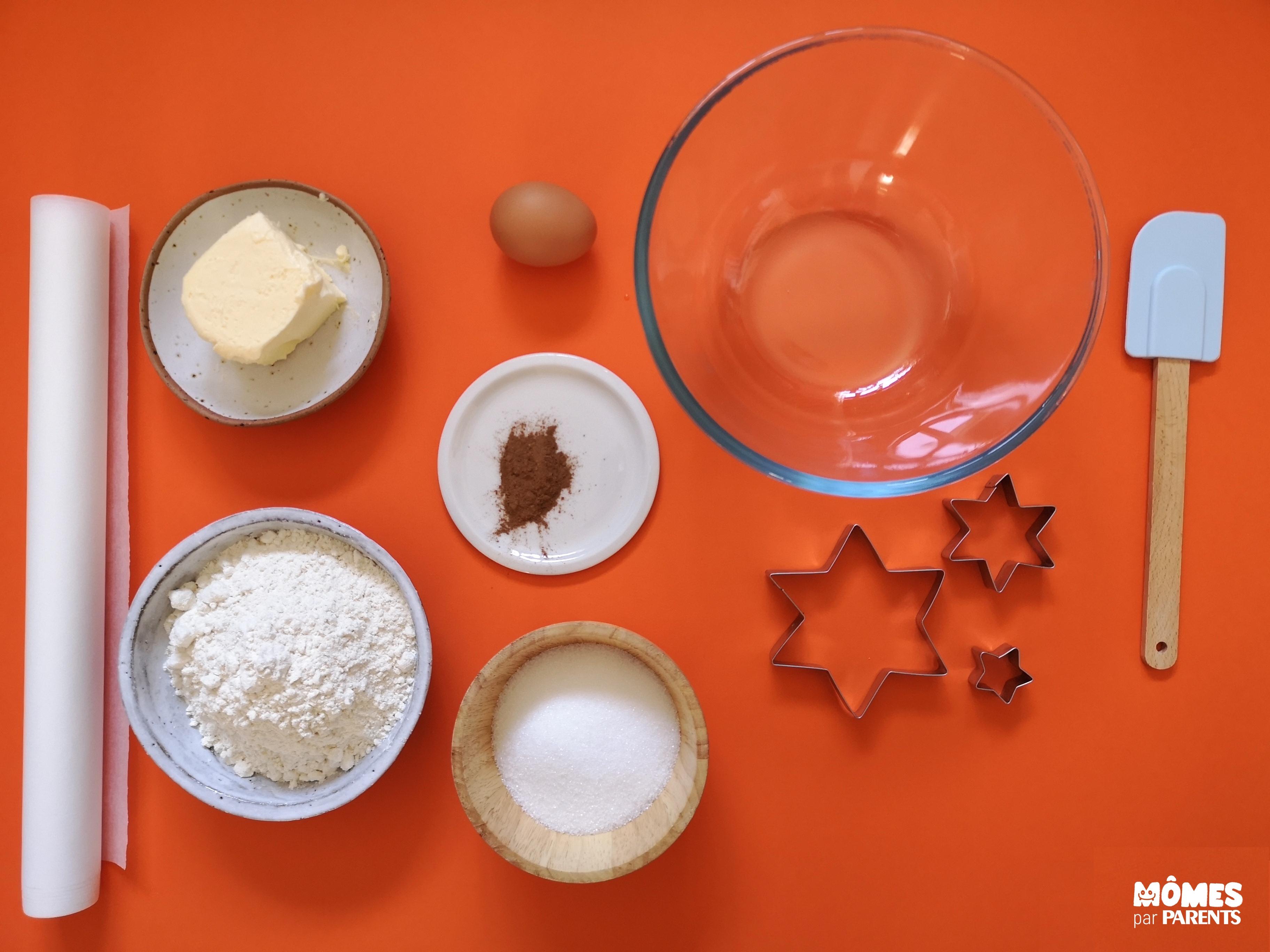 ingrédients sablés cannelle