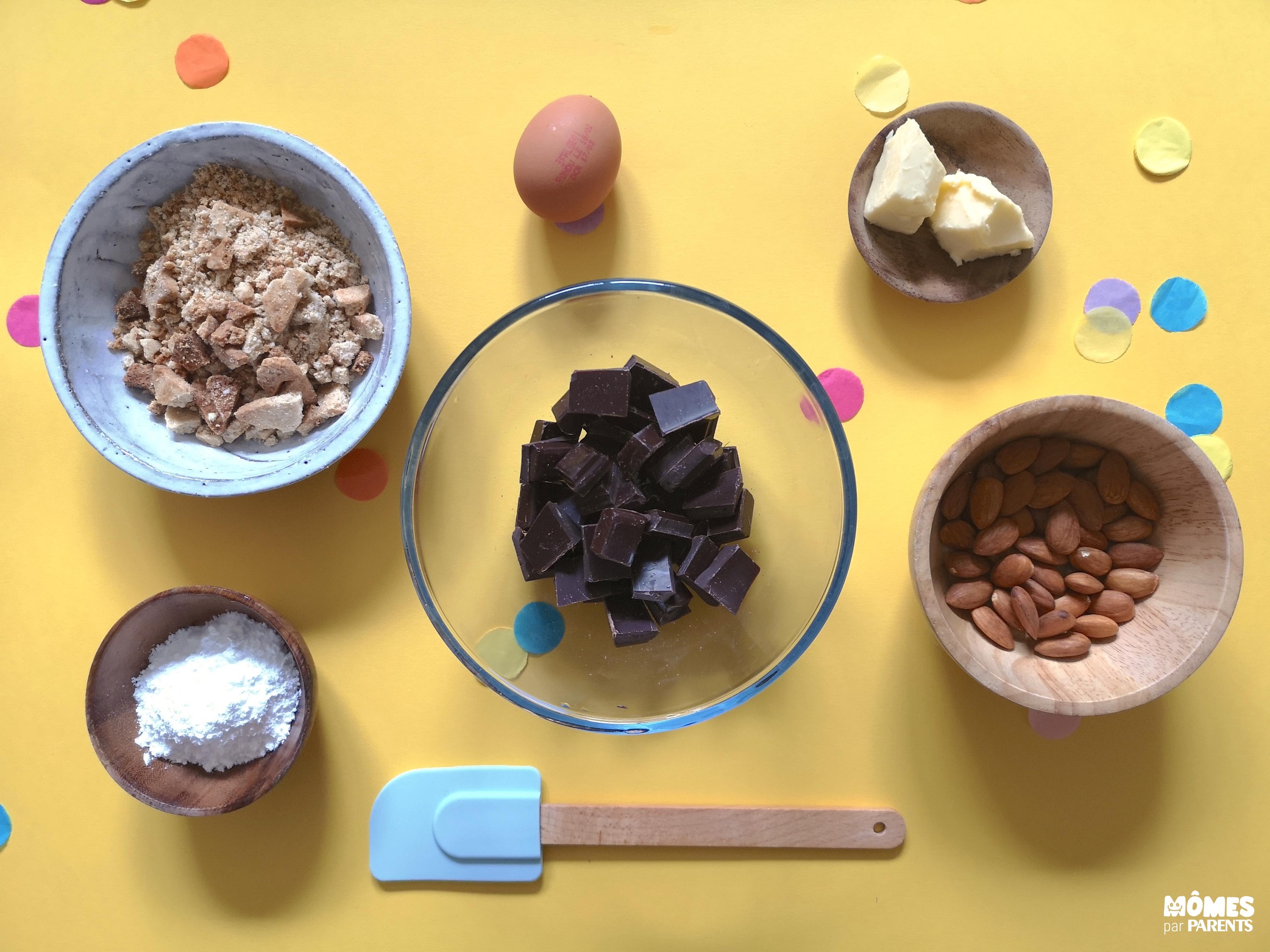 ingrédients saucisson chocolat