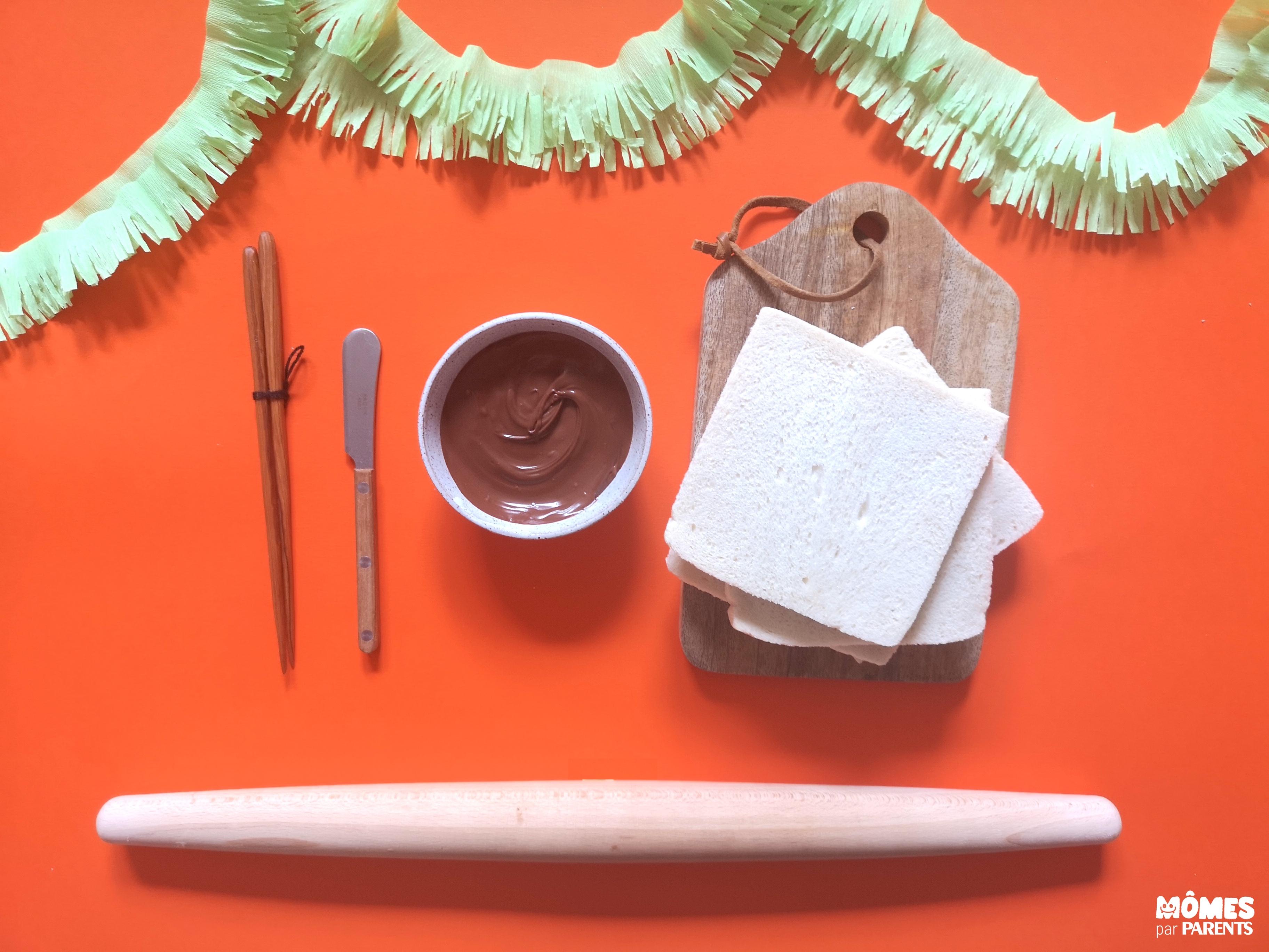 ingrédients sushis Nutella