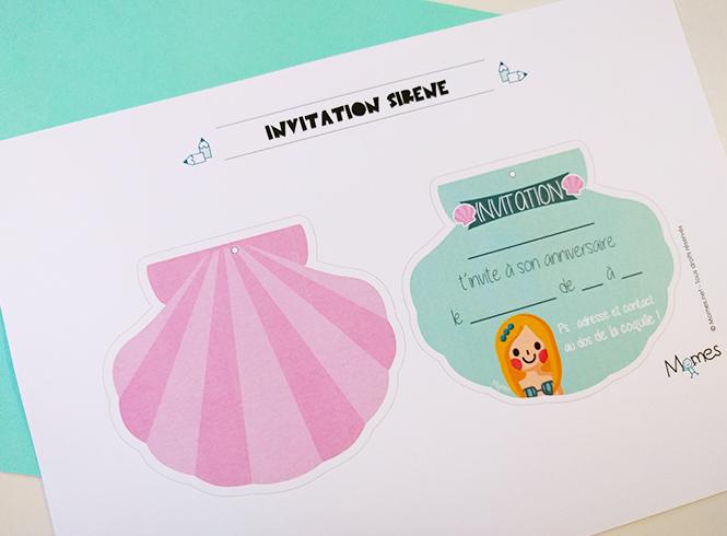 Invitation Anniversaire Sirene Momes Net