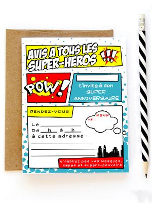 Invitation anniversaire super h ros - Carte anniversaire super heros ...