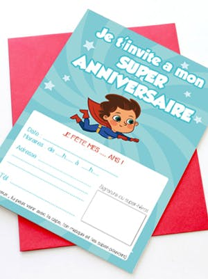 Invitation Super anniversaire