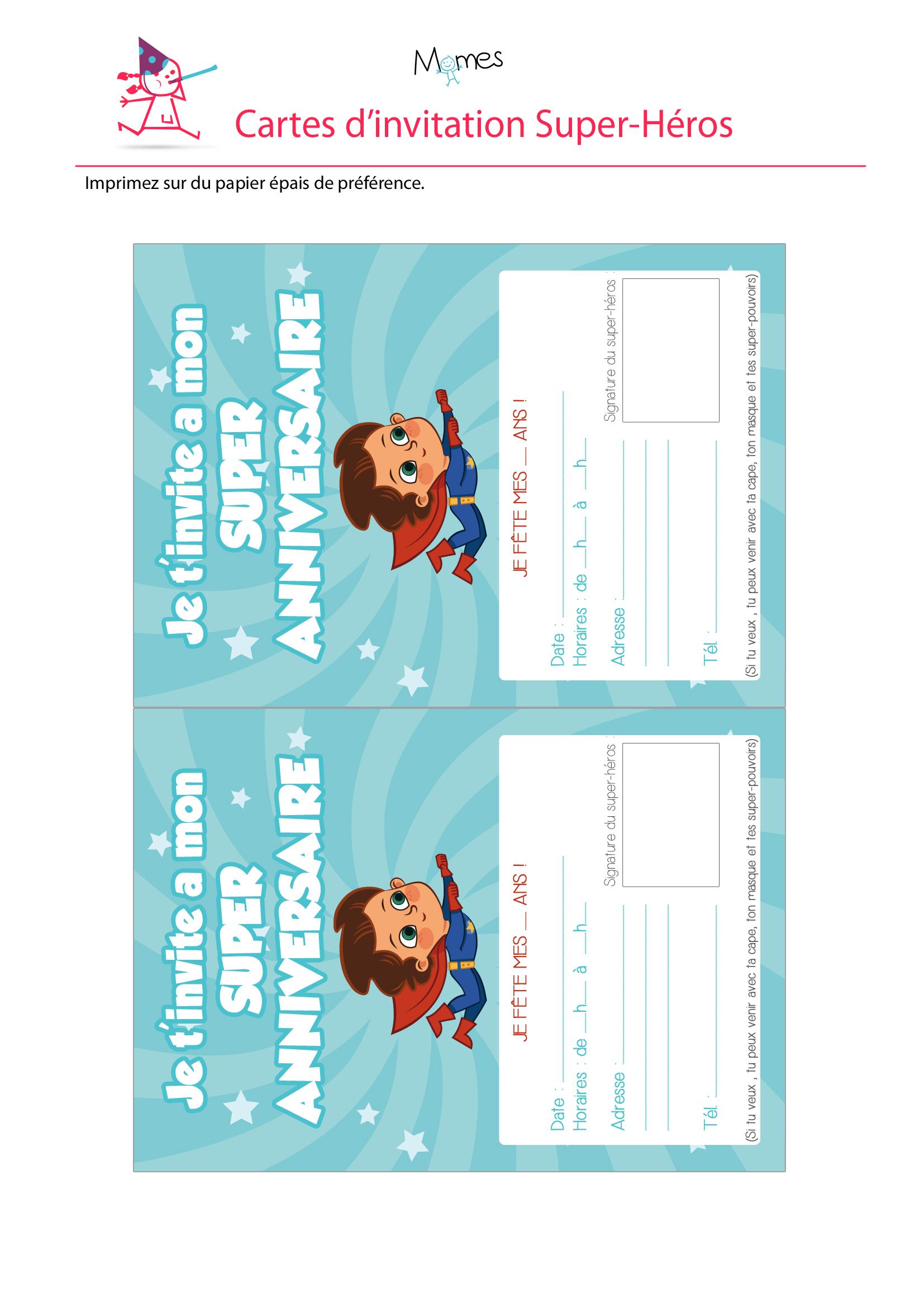 Invitation super anniversaire - Dessin invitation ...