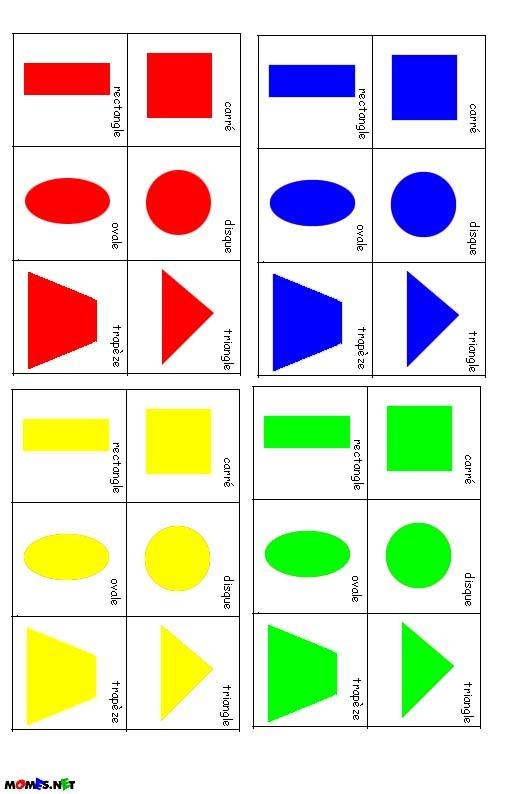 jeu de 7 familles géométrie à imprimer - Momes.net