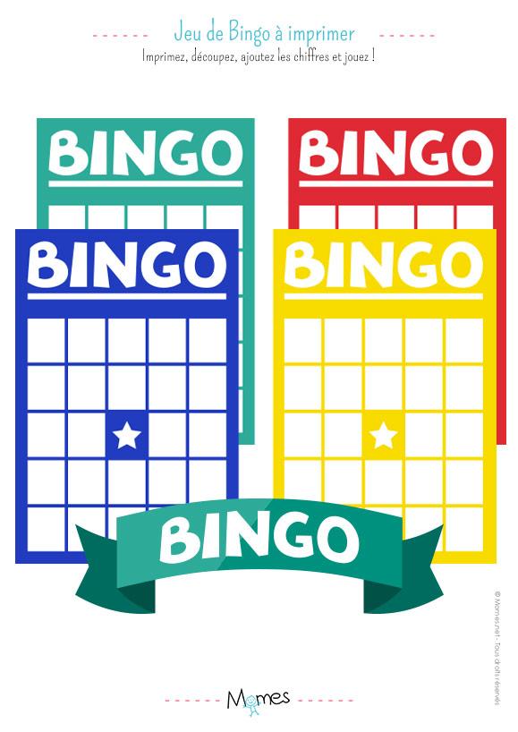 Jeu de Bingo à imprimer